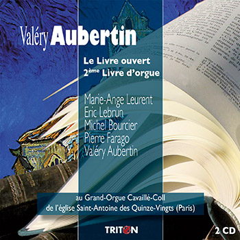 V. Aubertin : Livres d'orgue (Egl. St-Antoine des Quinze-Vingts, Paris)
